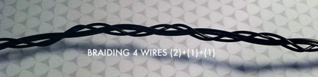 Braiding 4 wires (well really 3)
